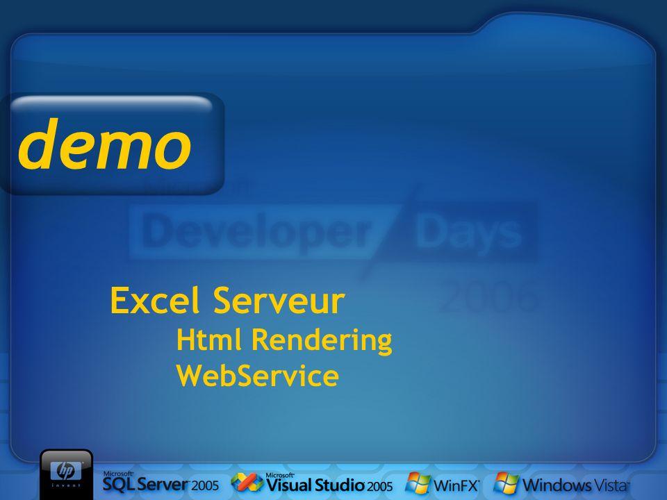 Excel Serveur Html Rendering WebService