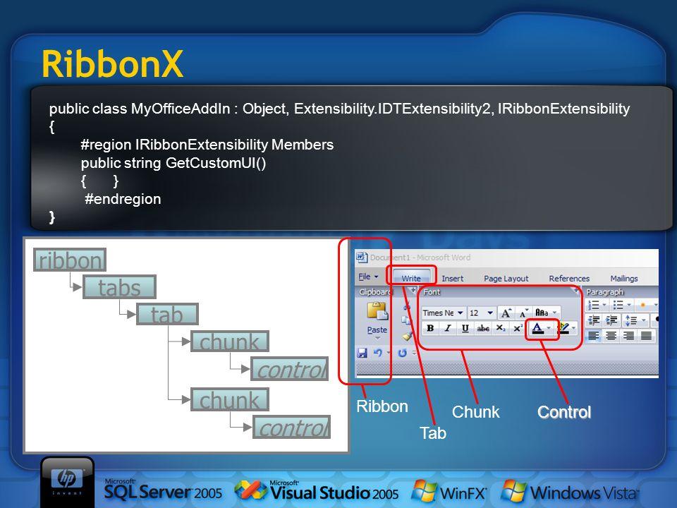 RibbonX ribbon tabs tab chunk control Ribbon Chunk Control Tab