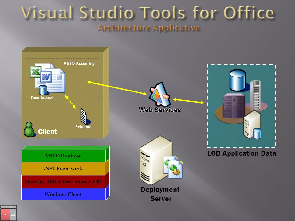 Visual Studio Tools for Office Architecture Applicative