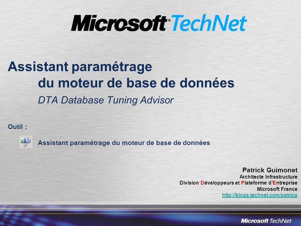 Assistant paramétrage. du moteur de base de données