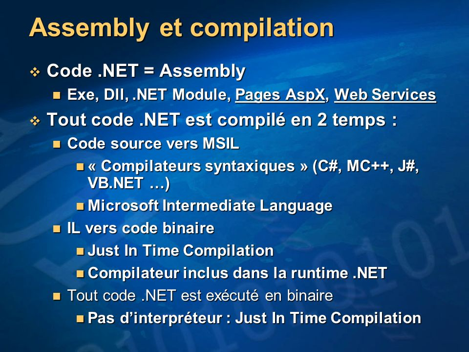 Assembly et compilation