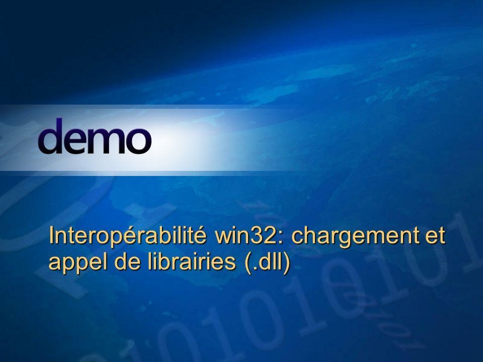 Interopérabilité win32: chargement et appel de librairies (.dll)