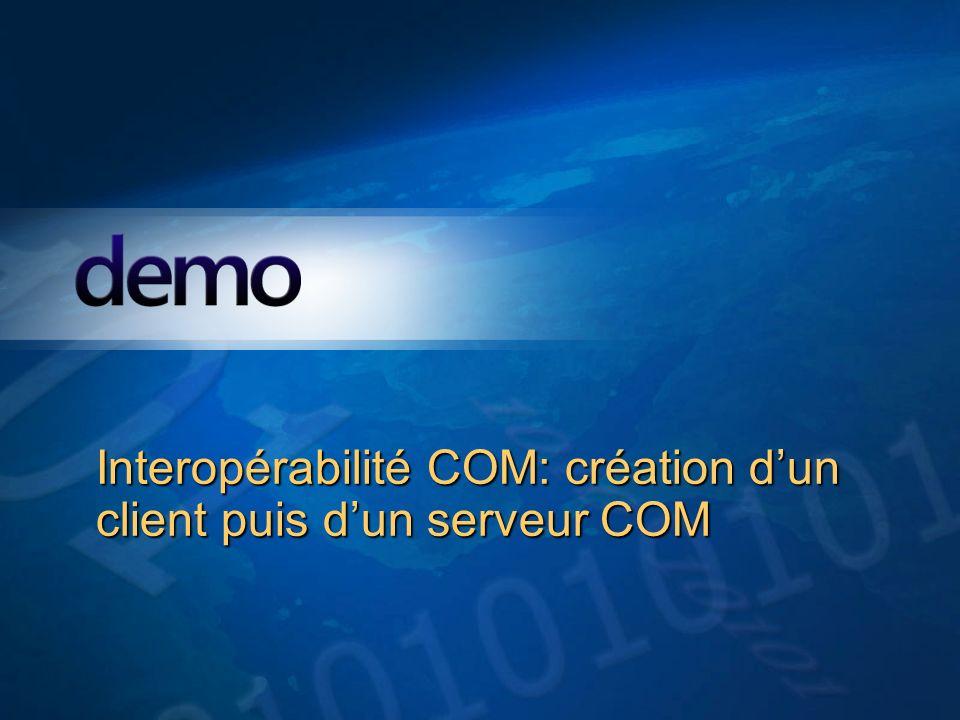 Interopérabilité COM: création d'un client puis d'un serveur COM