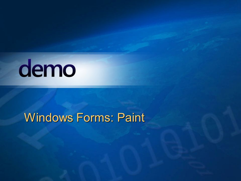 Démo Windows Forms: Paint