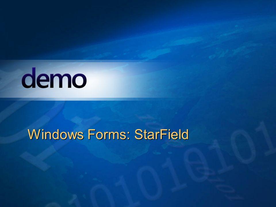 Windows Forms: StarField