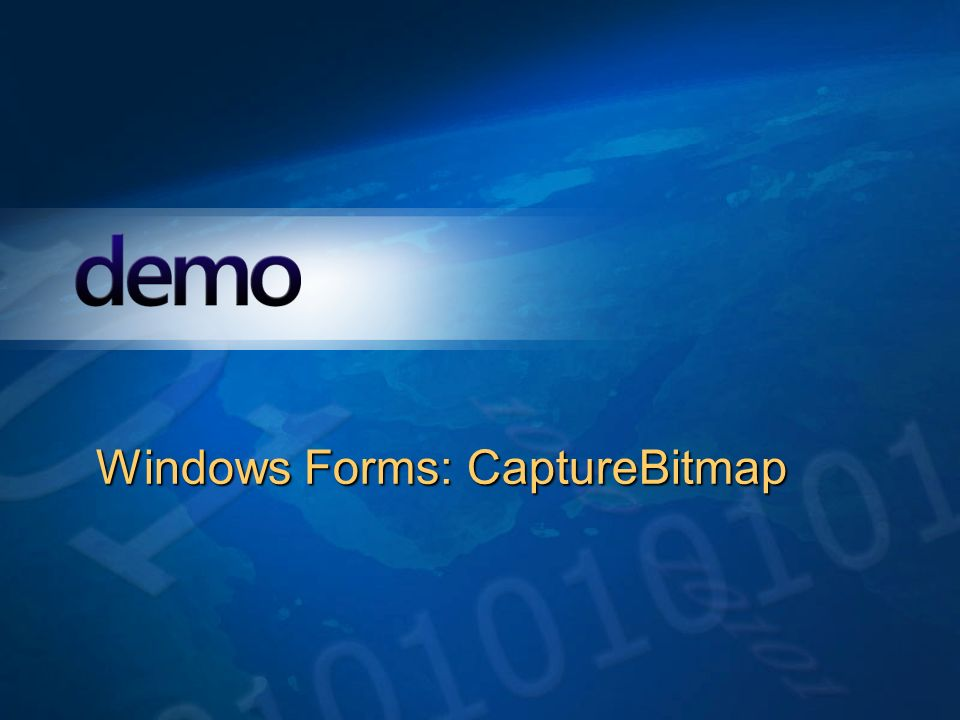 Windows Forms: CaptureBitmap