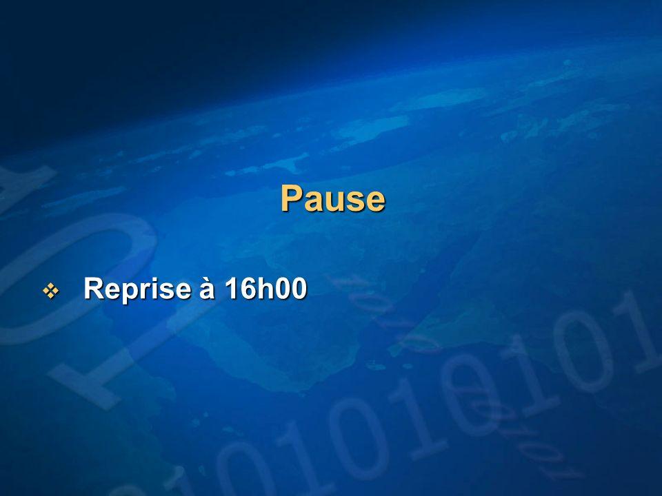 Pause Reprise à 16h00