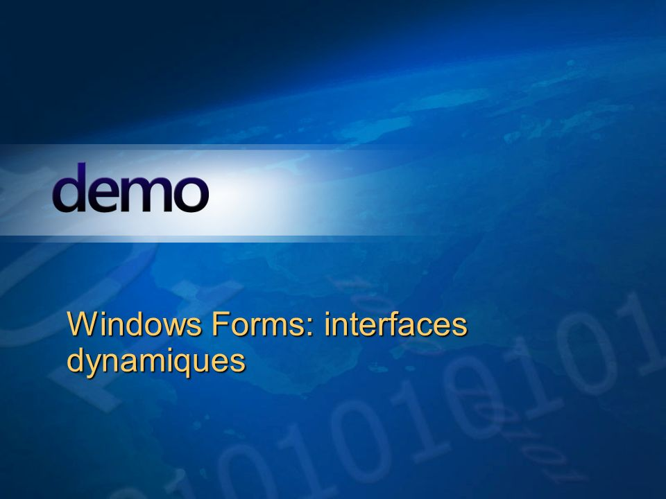 Windows Forms: interfaces dynamiques