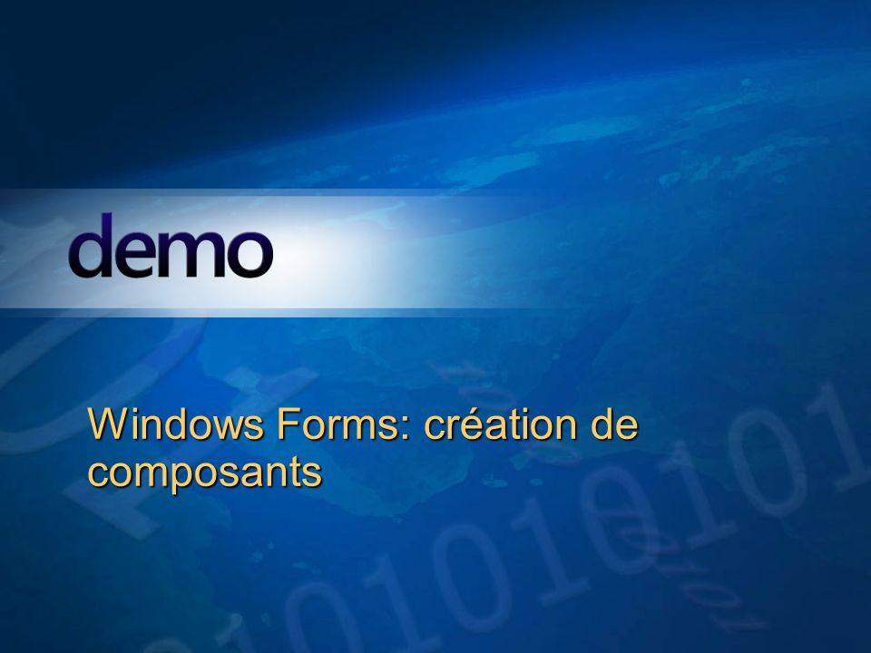 Windows Forms: création de composants