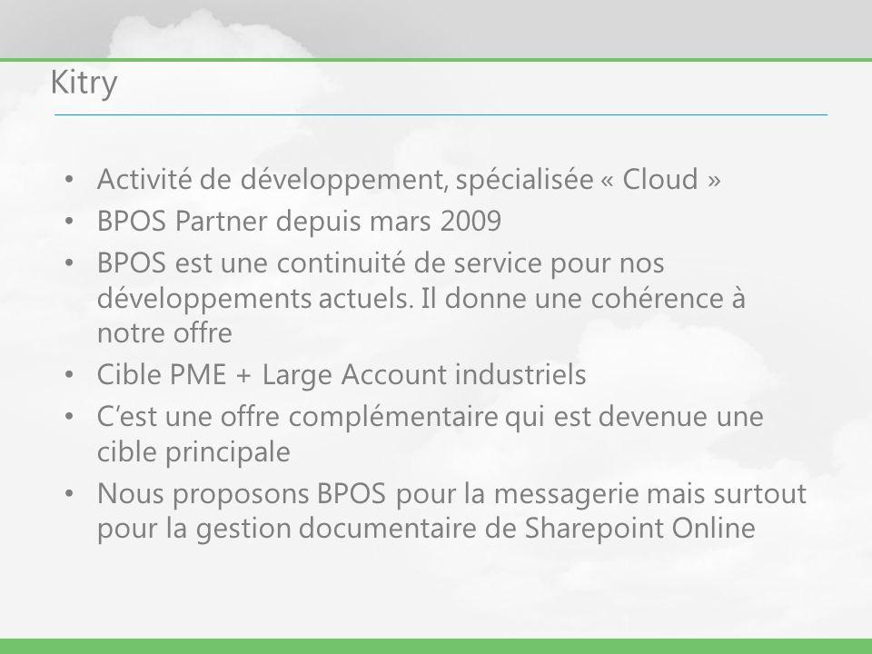 Kitry Activité de développement, spécialisée « Cloud »