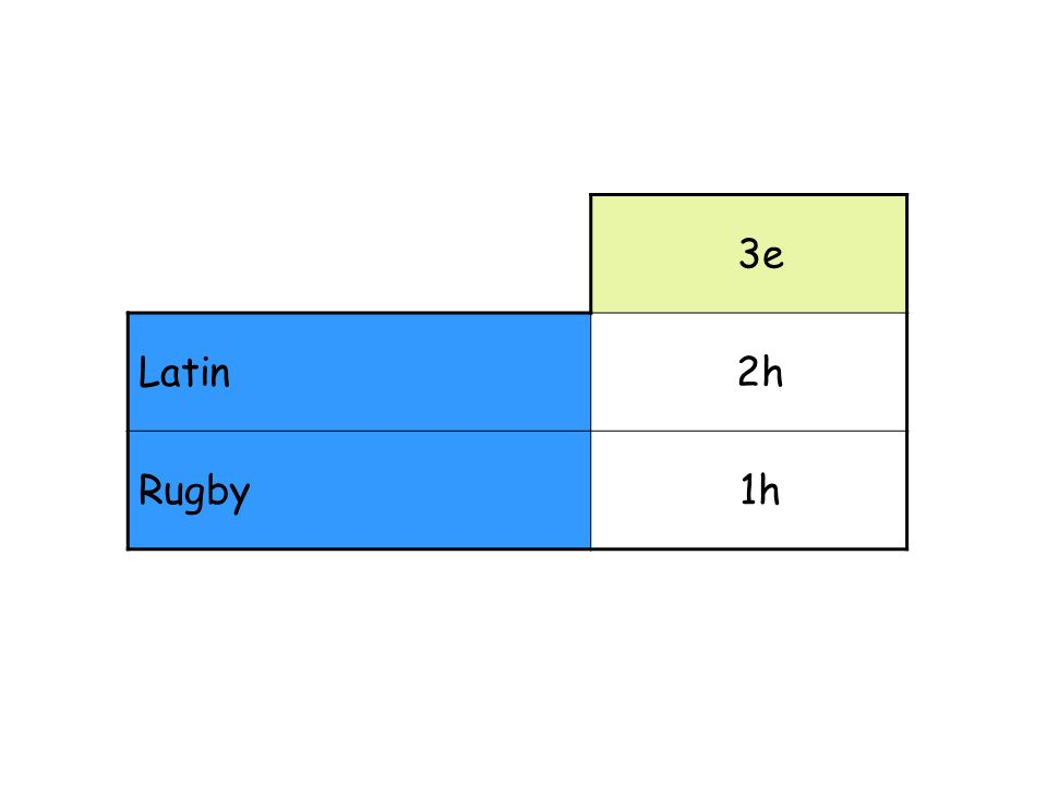 3e Latin 2h Rugby 1h