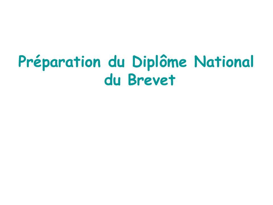 Préparation du Diplôme National du Brevet
