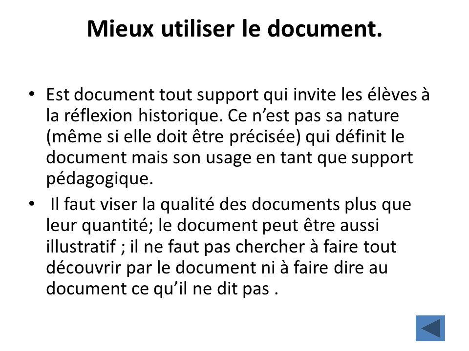 Mieux utiliser le document.