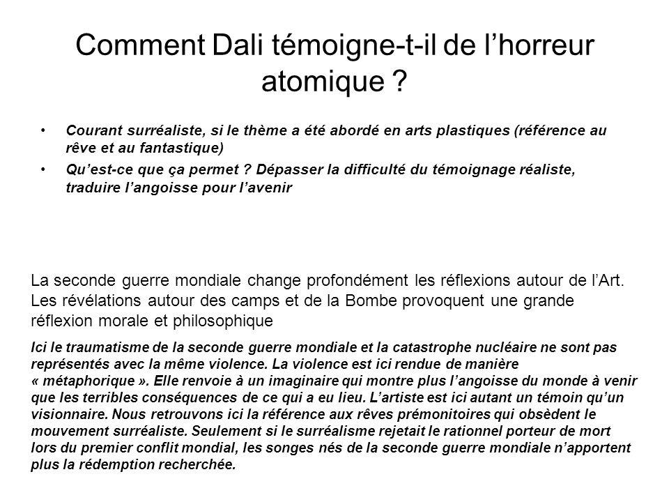 Comment Dali témoigne-t-il de l'horreur atomique