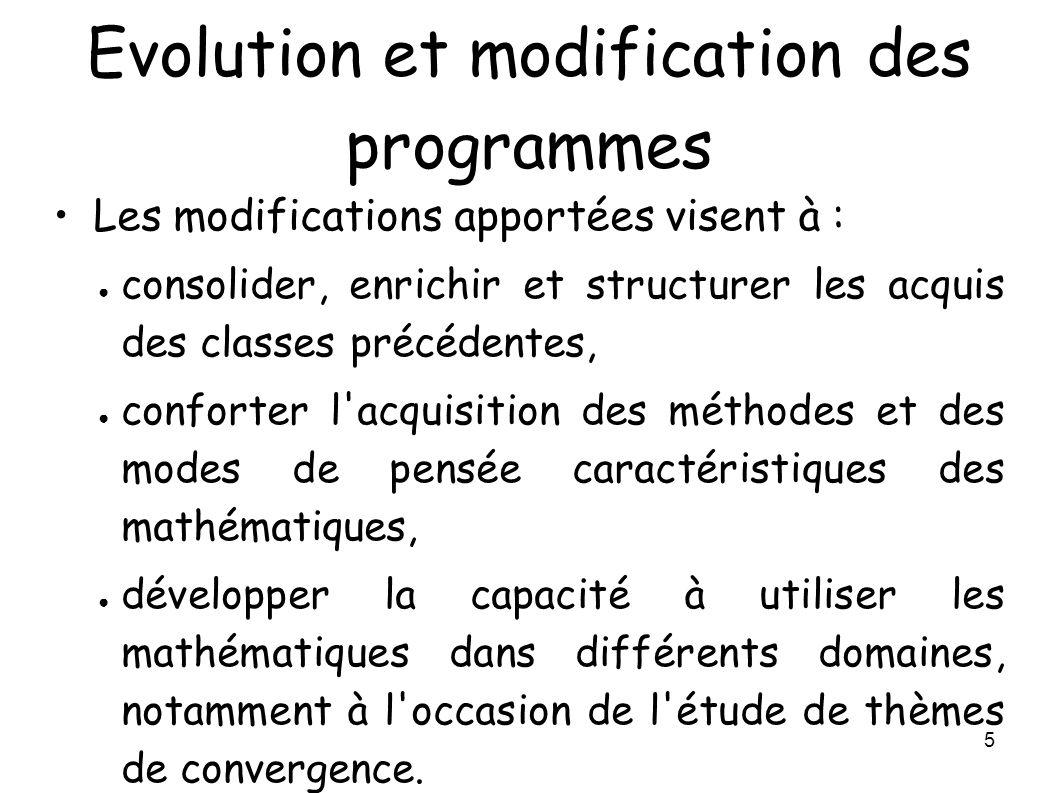 Evolution et modification des programmes