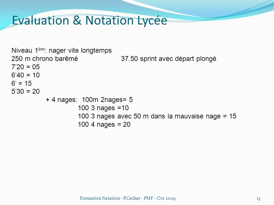 Evaluation & Notation Lycée