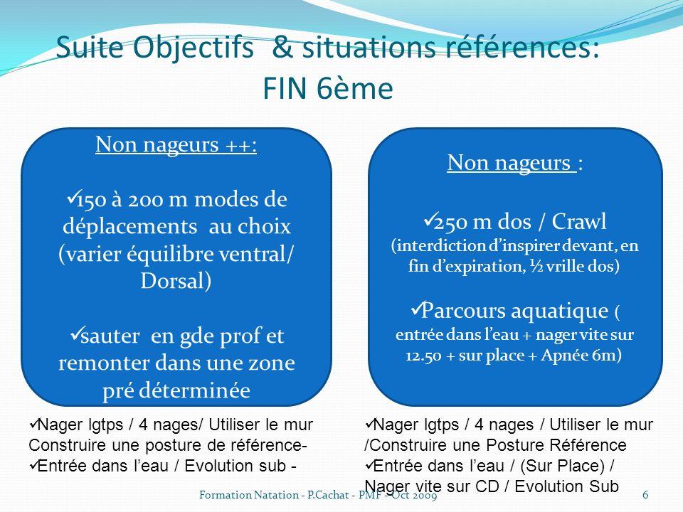 Suite Objectifs & situations références: FIN 6ème