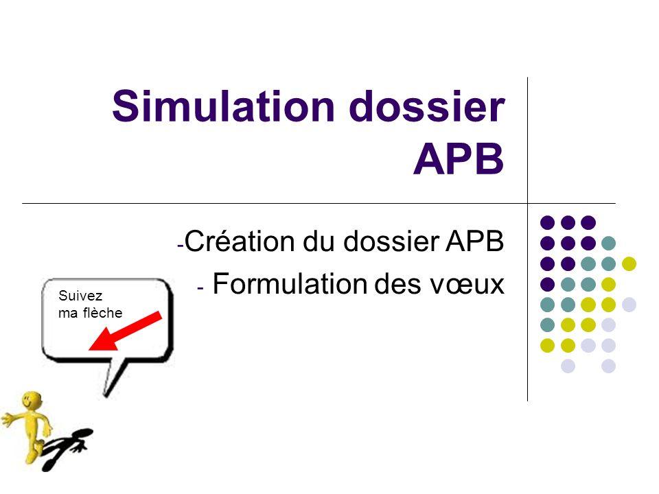 Simulation dossier APB