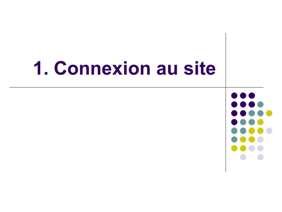 1. Connexion au site