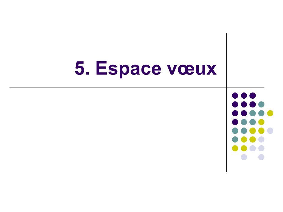 5. Espace vœux