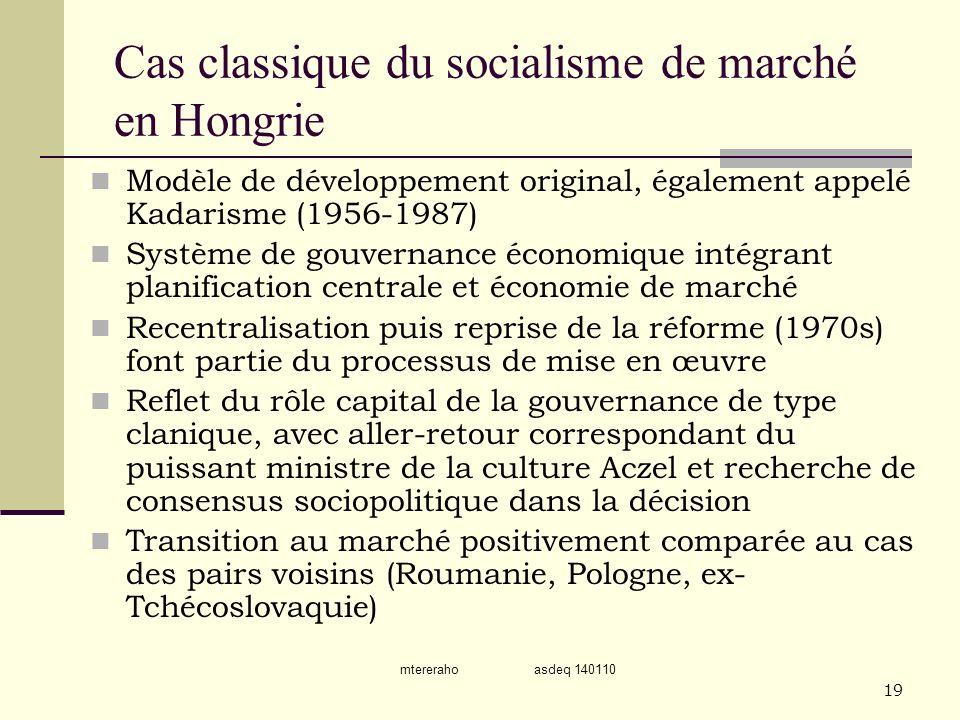 Cas classique du socialisme de marché en Hongrie