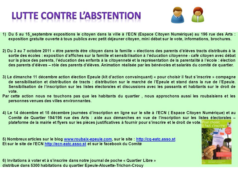 LUTTE CONTRE L'ABSTENTION