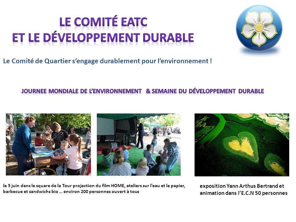 Le comité EATC et le développement durable
