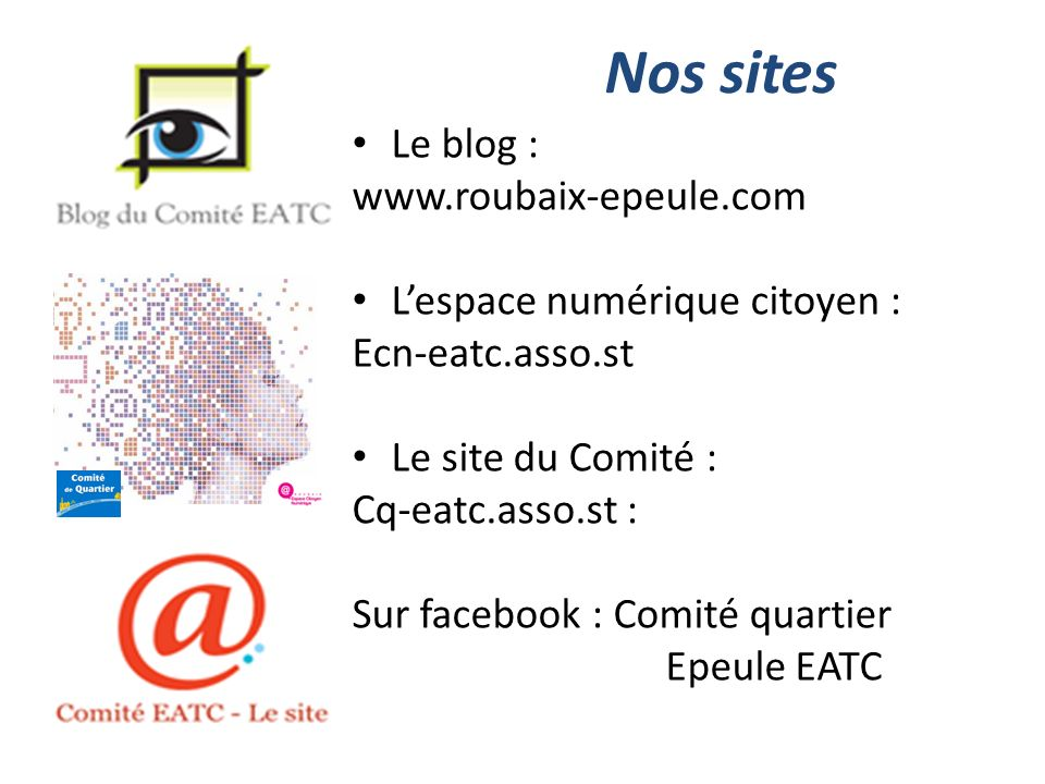 Nos sites Le blog : www.roubaix-epeule.com
