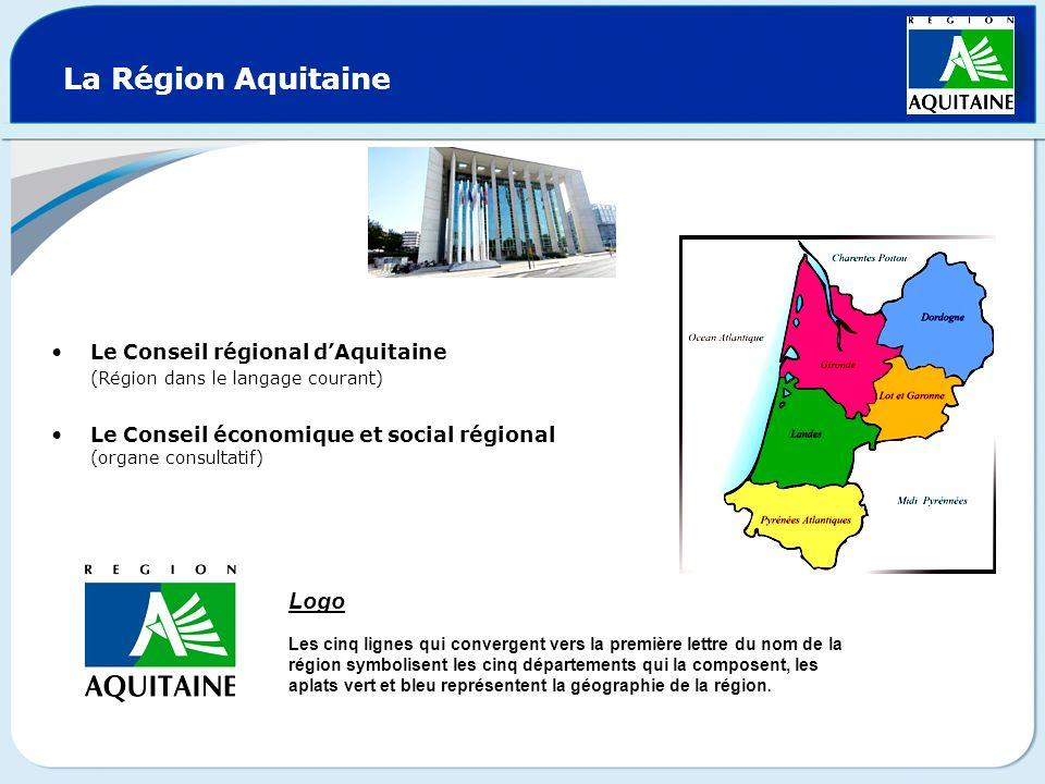 La Région Aquitaine Logo Le Conseil régional d'Aquitaine