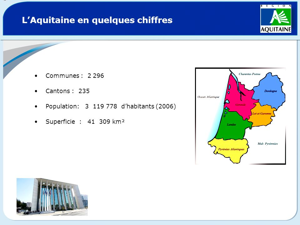 L'Aquitaine en quelques chiffres