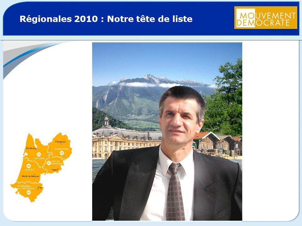 Régionales 2010 : Notre tête de liste