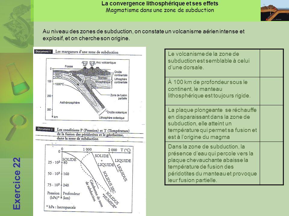 La convergence lithosphérique et ses effets