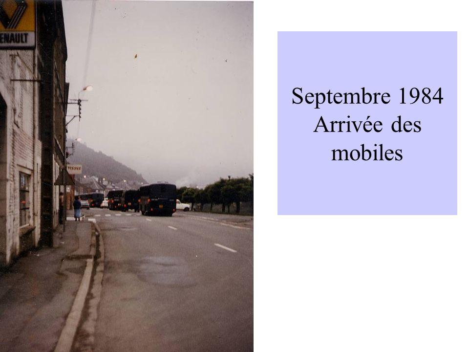 Septembre 1984 Arrivée des mobiles