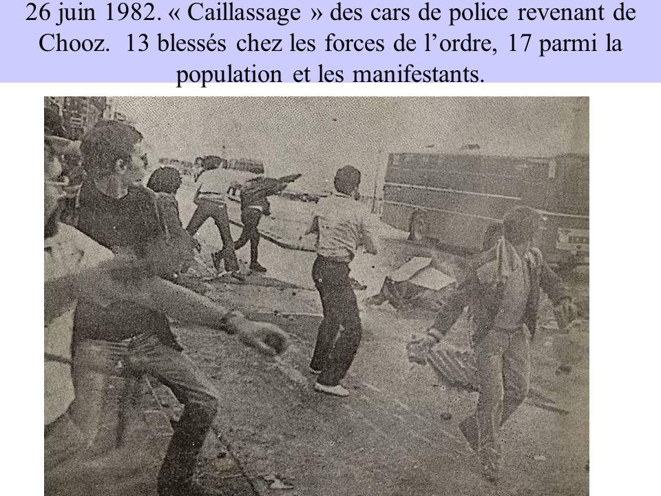 26 juin 1982. « Caillassage » des cars de police revenant de Chooz