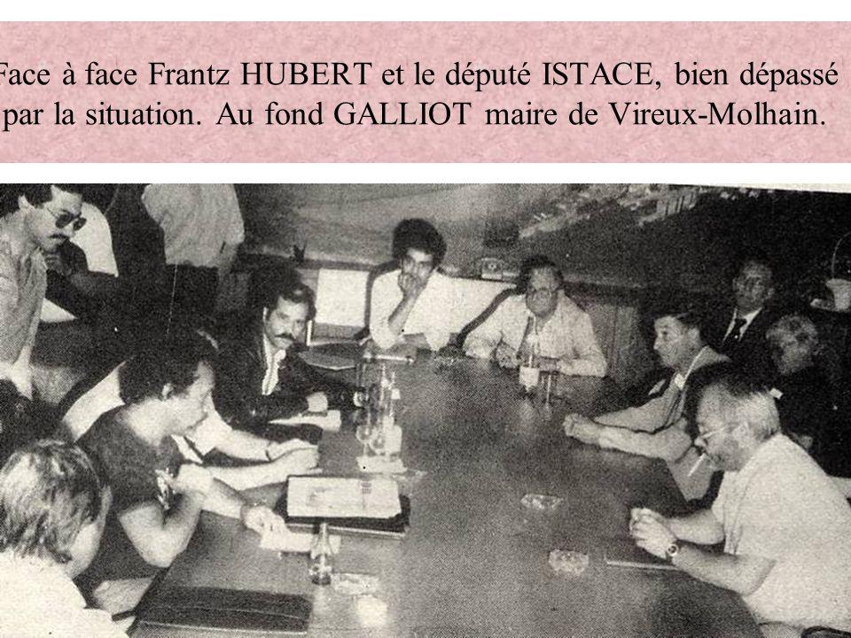 Face à face Frantz HUBERT et le député ISTACE, bien dépassé par la situation.