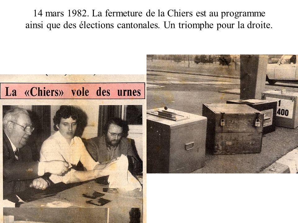 14 mars 1982. La fermeture de la Chiers est au programme ainsi que des élections cantonales.