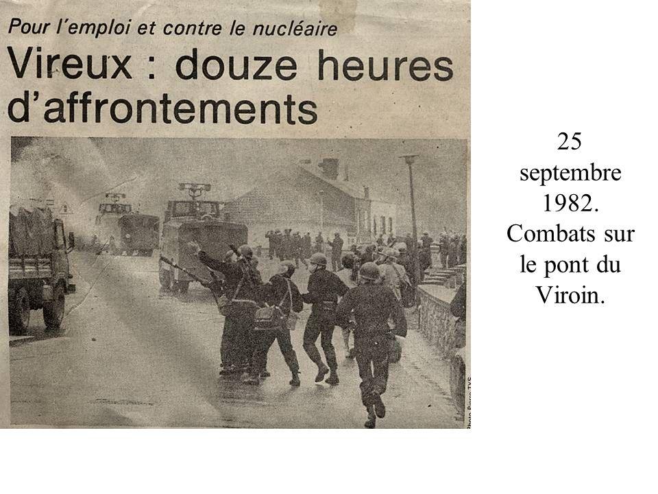 25 septembre 1982. Combats sur le pont du Viroin.