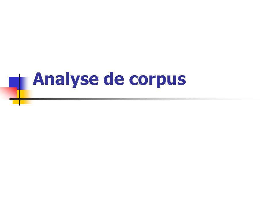 Analyse de corpus