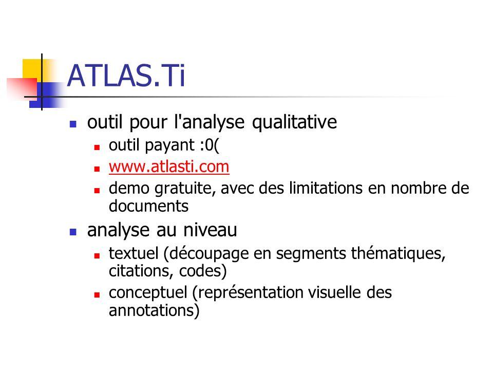 ATLAS.Ti outil pour l analyse qualitative analyse au niveau