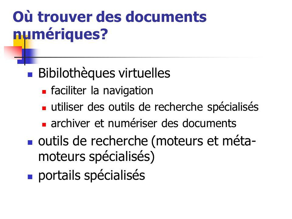Où trouver des documents numériques