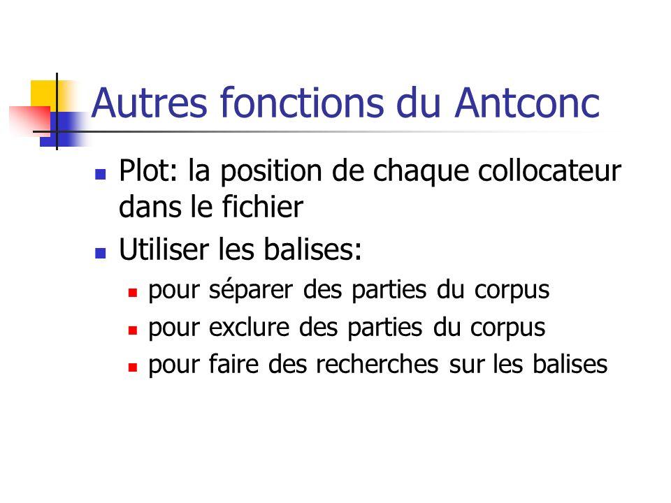 Autres fonctions du Antconc