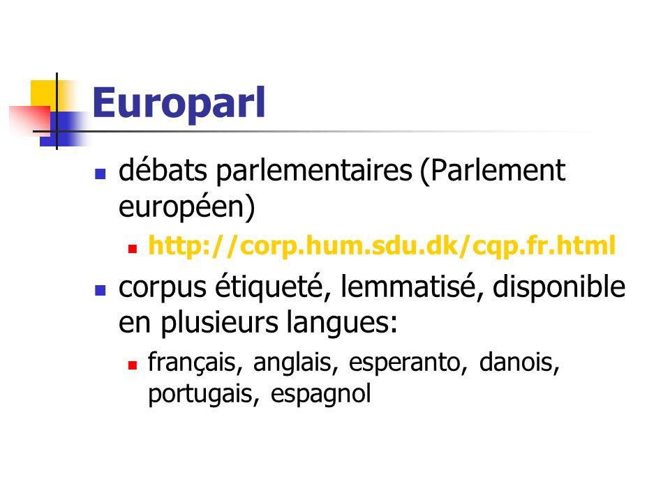 Europarl débats parlementaires (Parlement européen)