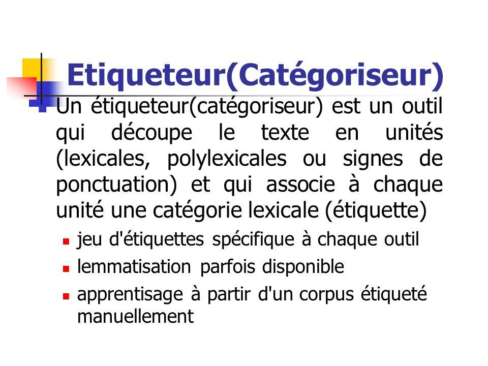Etiqueteur(Catégoriseur)