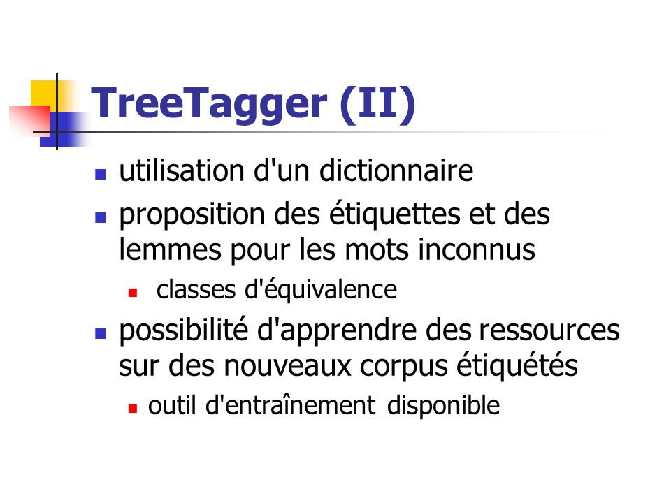 TreeTagger (II) utilisation d un dictionnaire