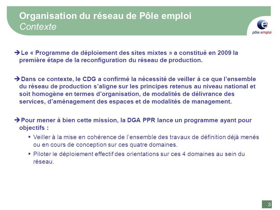 Organisation du réseau de Pôle emploi Contexte
