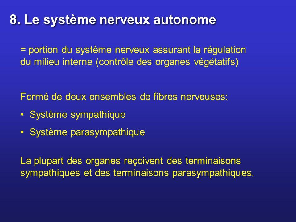 8. Le système nerveux autonome