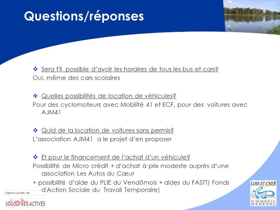 Questions/réponses Sera t il possible d'avoir les horaires de tous les bus et cars Oui, même des cars scolaires.