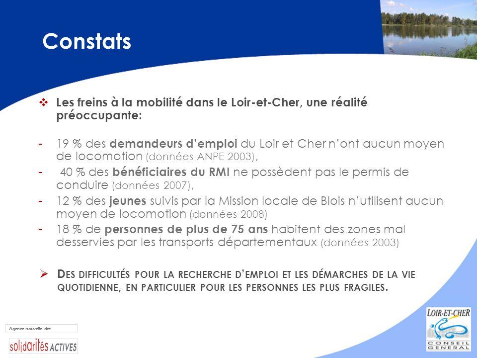 Constats Les freins à la mobilité dans le Loir-et-Cher, une réalité préoccupante: