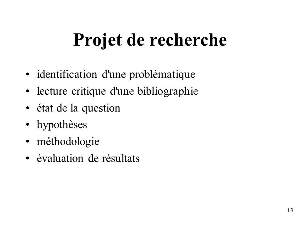 Projet de recherche identification d une problématique