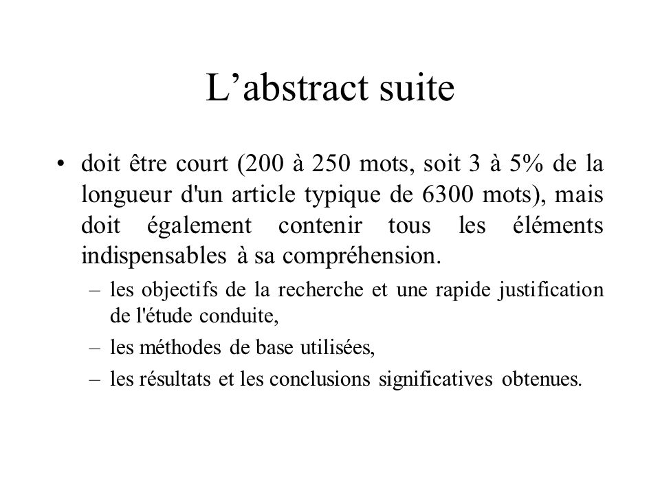 L'abstract suite
